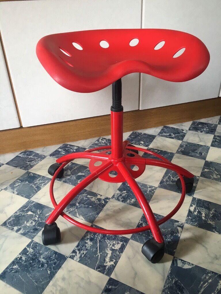 Red ikea tractor stool & Red ikea tractor stool | in Exeter Devon | Gumtree
