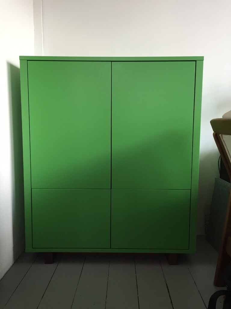 IKEA STOCKHOLM   Cabinet With 2 Drawers | Green