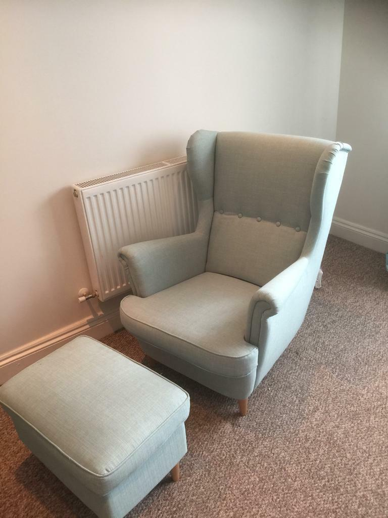 High Quality IKEA Strandmon Wing Chair And Footrest