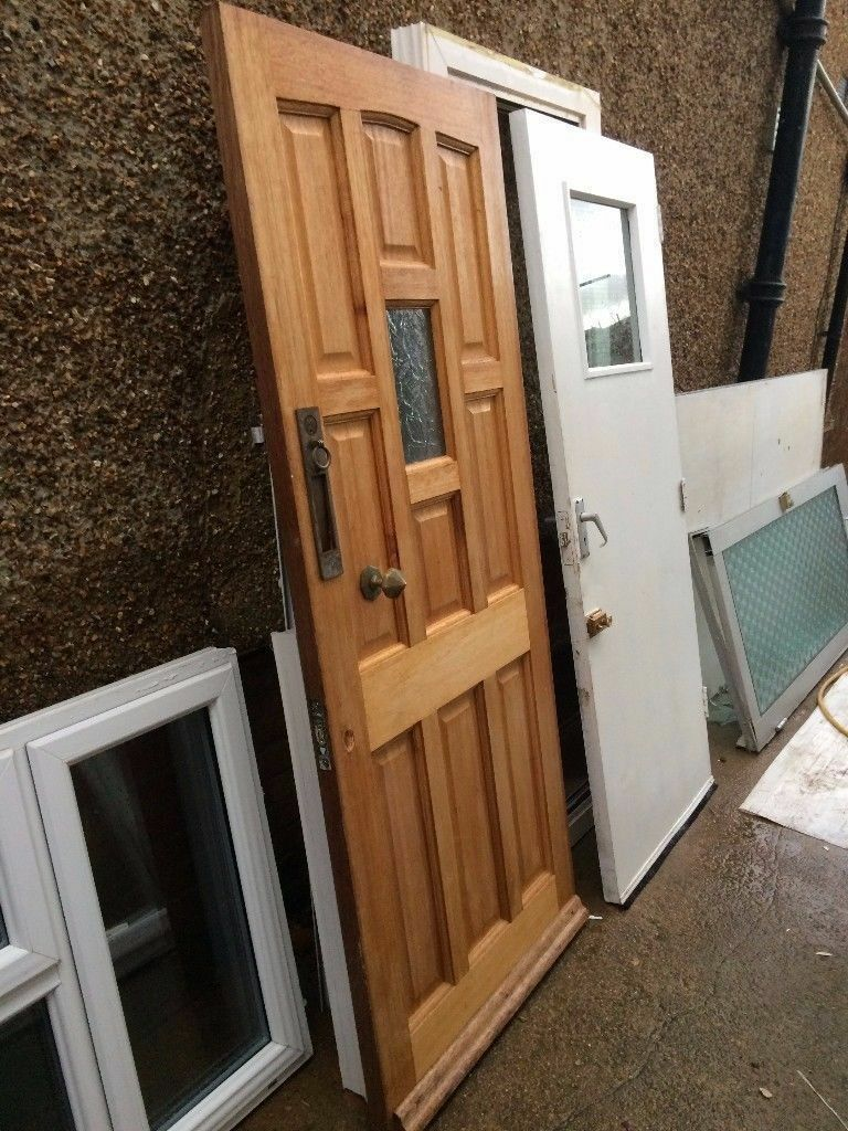 **FRONT DOOR**HEAVY**SOLID**WOOD**WHITE