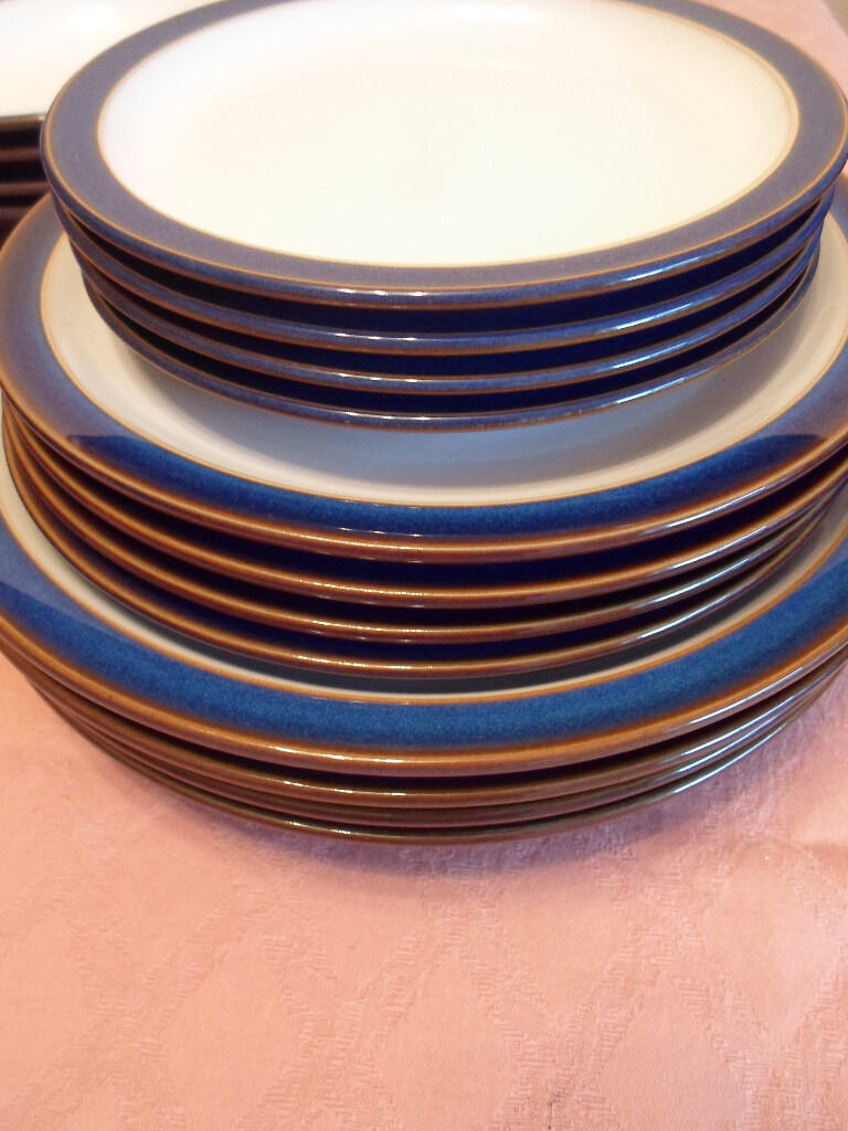 12 Denby plates in Imperial Blue . 4 each of dinner platessalad platesand tea & 12 Denby plates in Imperial Blue . 4 each of dinner platessalad ...