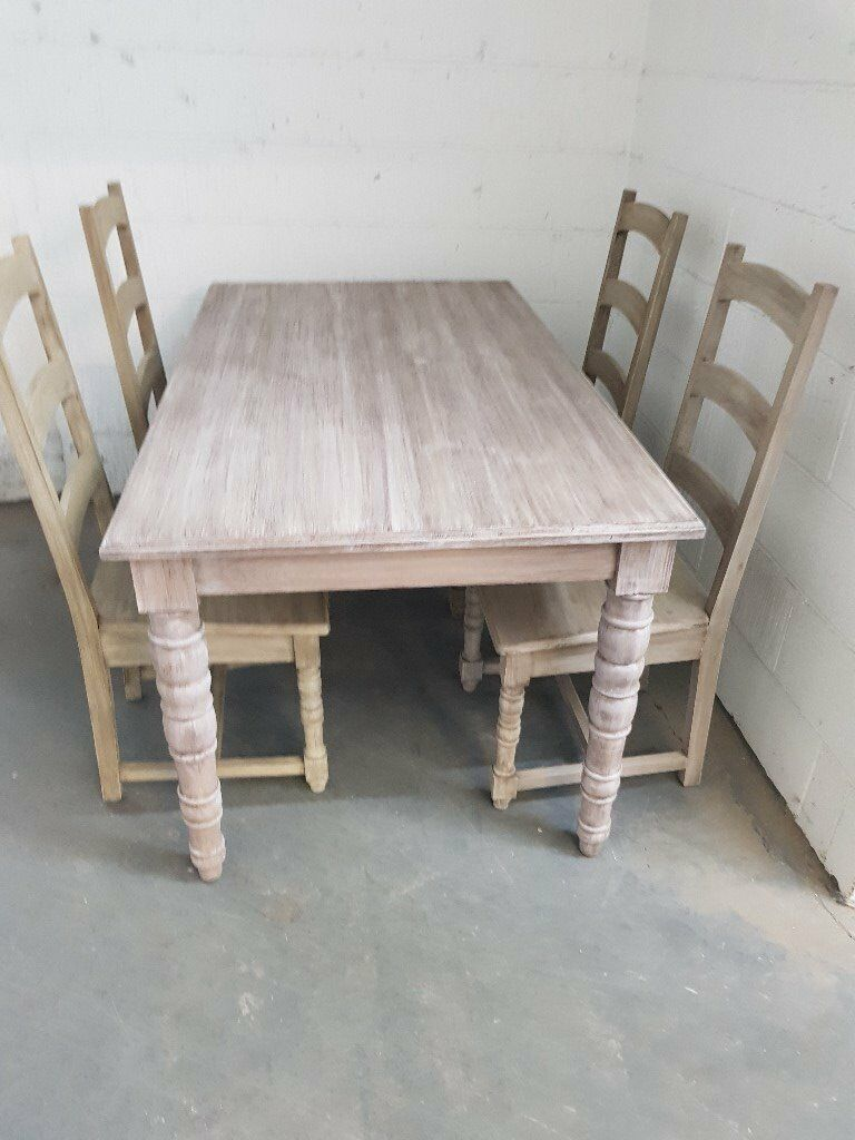Charmant NEW Assembled Limed Oak Dining Table + 4 Chairs RRP £999 | In Oldham,  Manchester | Gumtree