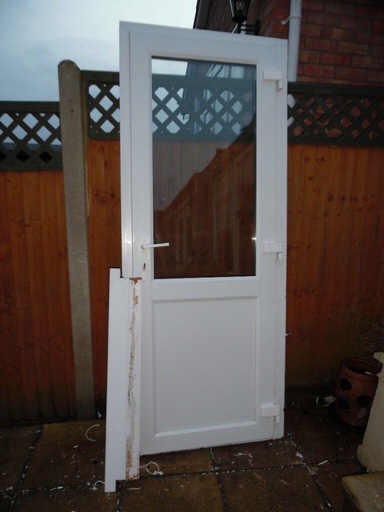WHITE UPVC DOUBLE GLAZED REAR/GARAGE DOOR