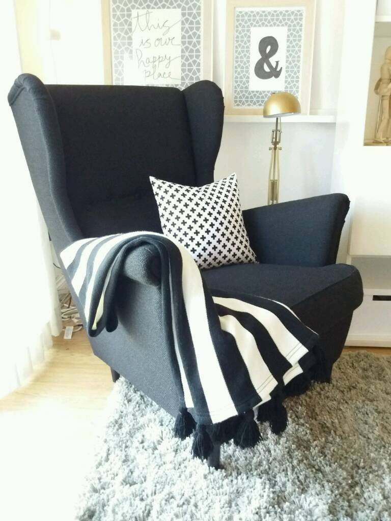 IKEA STRANDMON Wing Armchair * Black * LIMITED EDITION
