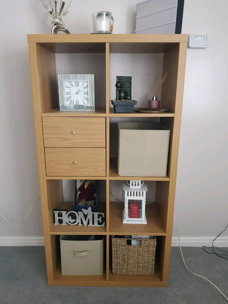 Oak Cube Storage Unit