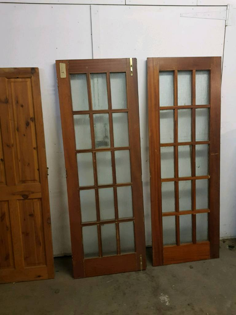 Solid Wood Heavy Duty Doors / Wood Doors With Glass Internal/External High  Quality £