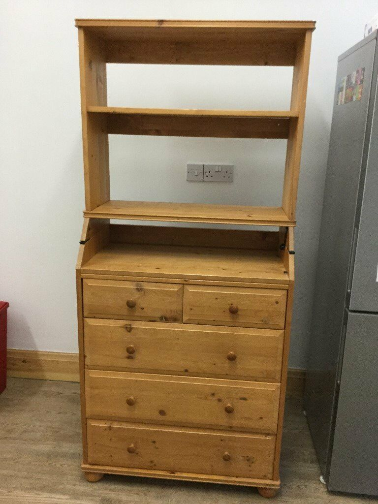IKEA Navrik Multi Use Drawer/change Table/bureau Pine Wood