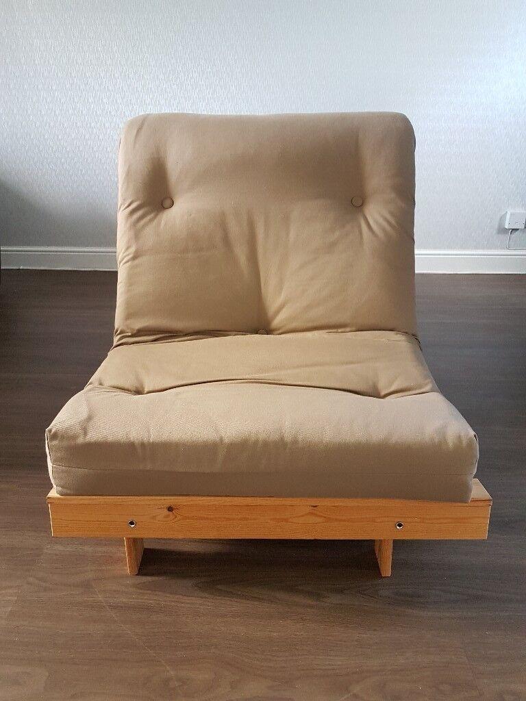 argos home single futon sofa bed with mattress   cream argos home single futon sofa bed with mattress   cream   in      rh   gumtree