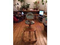 Svan Of Sweden Adjustable Wooden High Chair