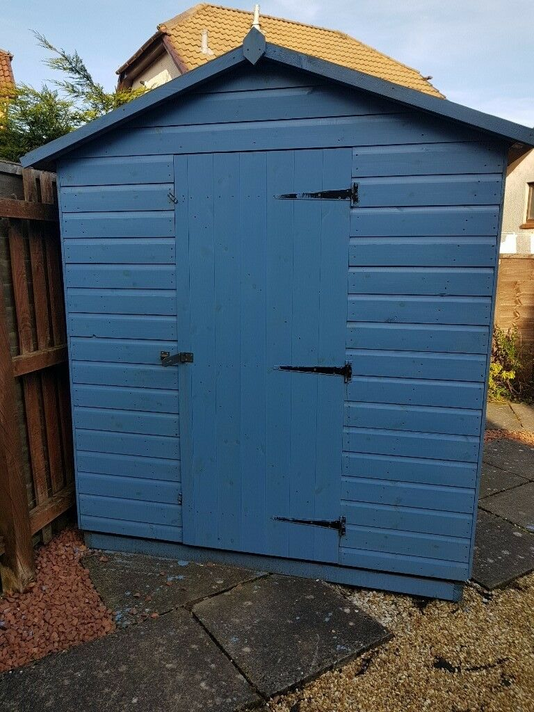 8x6 Shed For Sale. 5 Months Old. Painted Light Blue