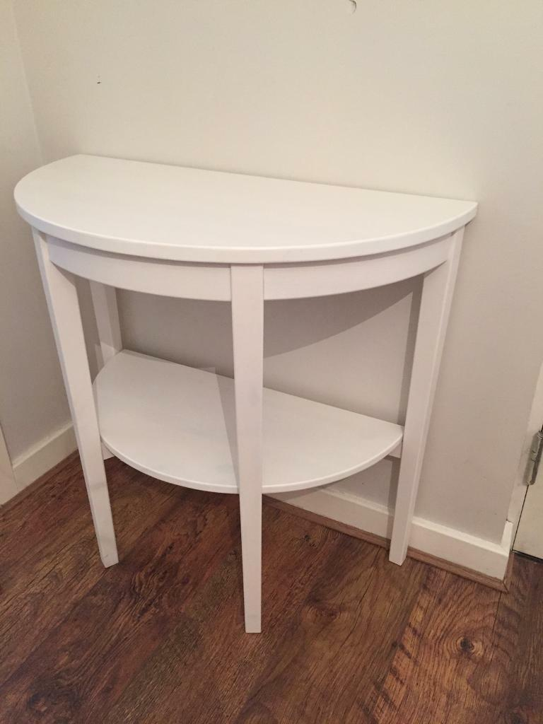 Superieur Ikea Hall Table White Half Moon.