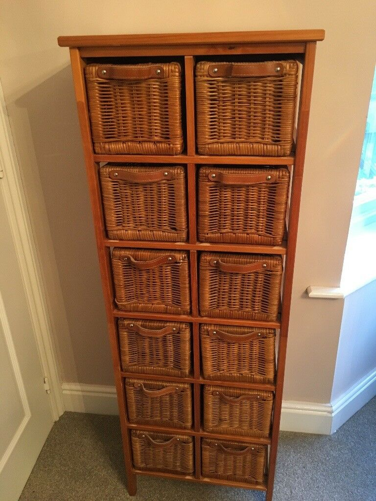 Wicker basket storage unit & Wicker basket storage unit | in Kettering Northamptonshire | Gumtree