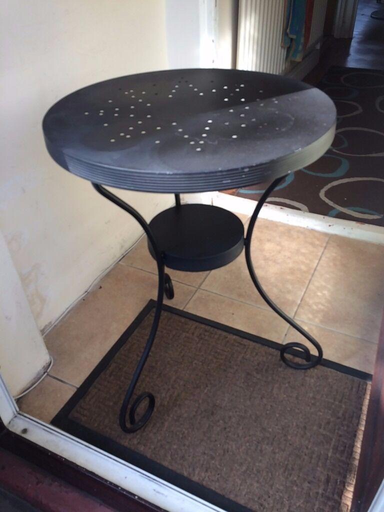 Ikea Black Metal Side Table In Bermondsey London Gumtree
