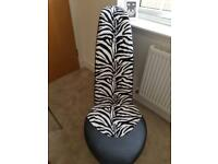 Shoe Shaped Chair   Zebra Print