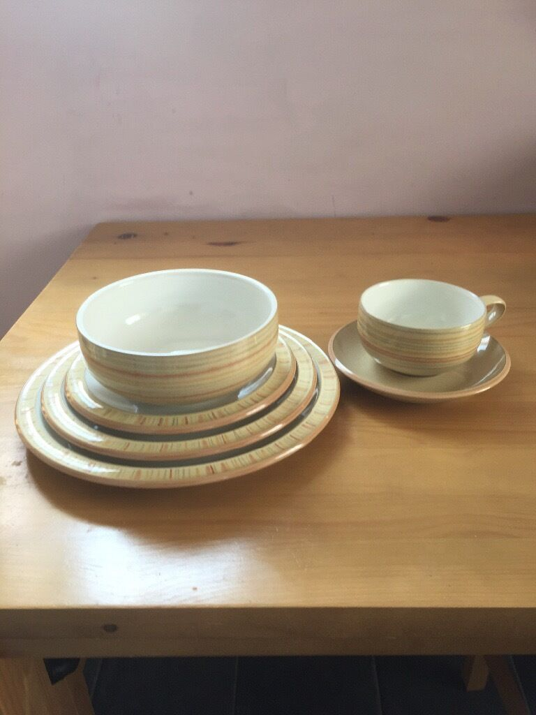DENBY CARAMEL STRIPES DINING SET AND SERVING DISHES & DENBY CARAMEL STRIPES DINING SET AND SERVING DISHES | in Gloucester ...