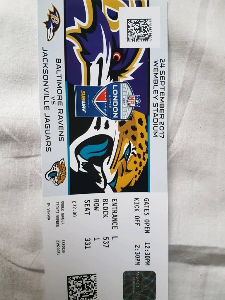 Exceptional NFL LONDON TICKET Baltimore Ravens Vs Jacksonville Jaguars 2017 WEMBLEY  STADIUM