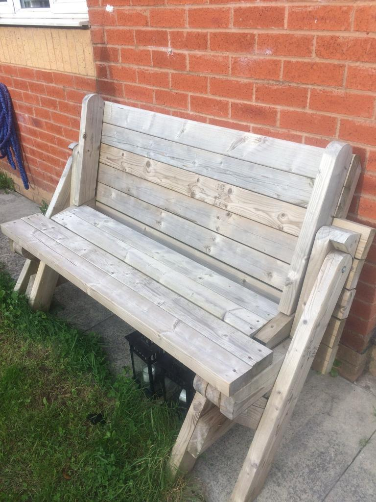 Bench Converts Into Picnic Table REDUCED