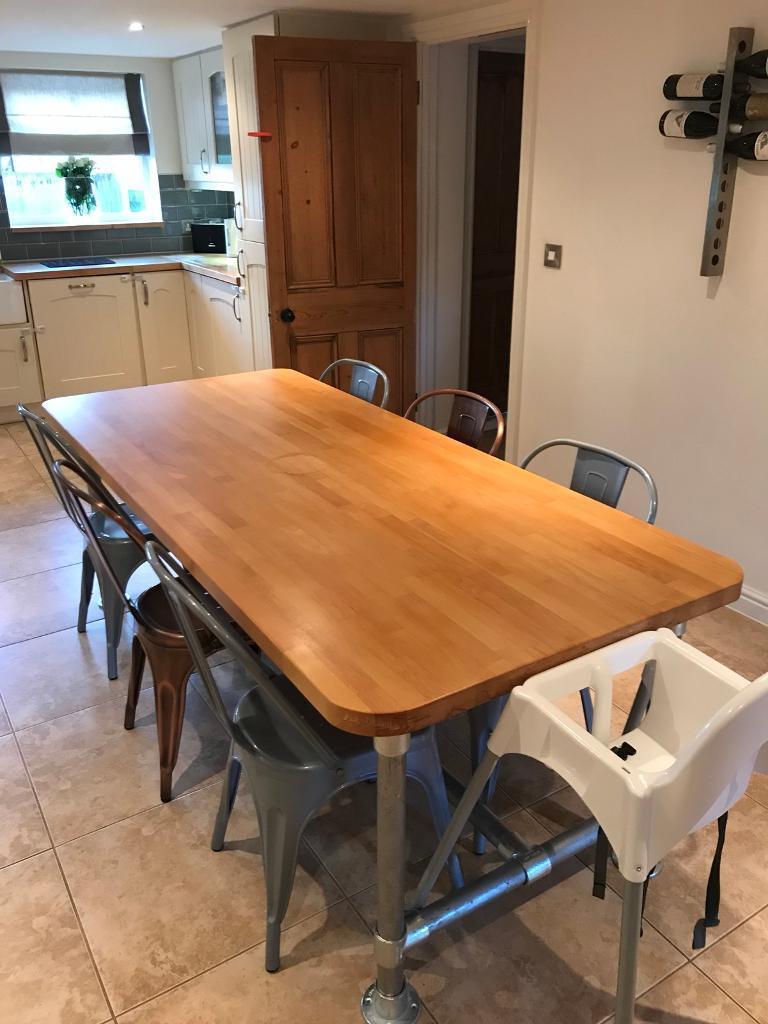 Beech Kitchen Table Or Breakfast Bar Worktop