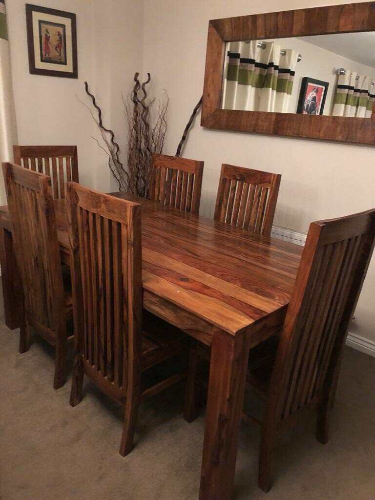 Sheesham Furniture   Full Living Room And Dining Room Job Lot