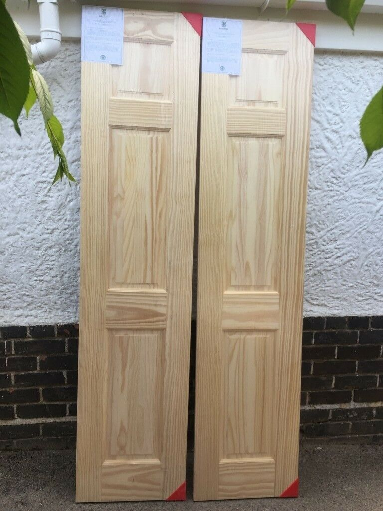 Clear Pine Interior Double / Half Doors, Three Panel, 78in X 18in X 35mm,  Unused, Still In Packaging