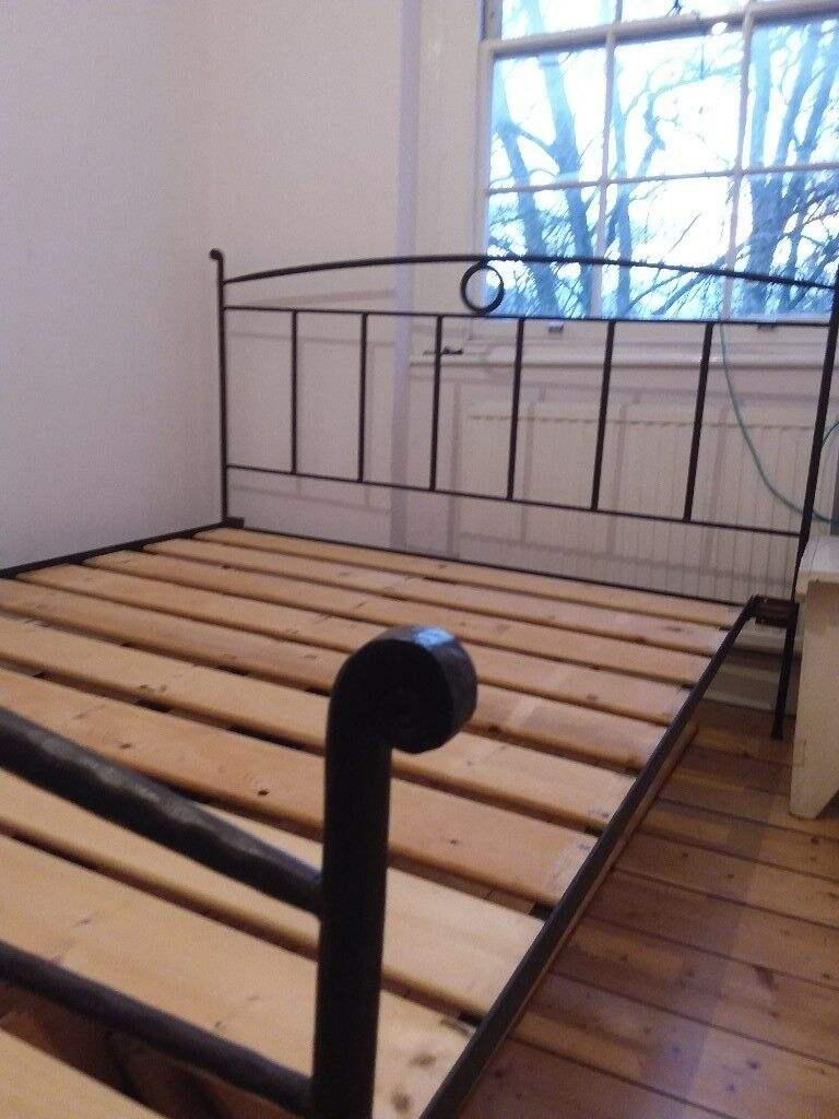 king size iron bed frame can deliver