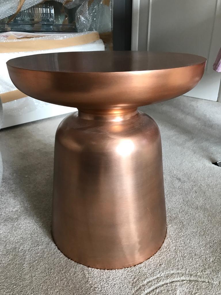 excellent west elm copper martini side table.