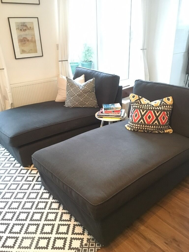 2 IKEA KIVIK CHAISE LONGUE SOFAS : kivik chaise lounge - Sectionals, Sofas & Couches