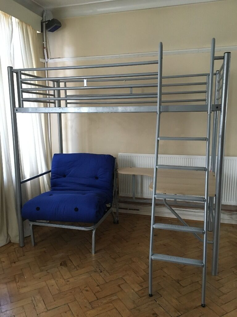 jay be high sleeper bunk bed with desk  u0026 futon jay be high sleeper bunk bed with desk  u0026 futon   in grangetown      rh   gumtree