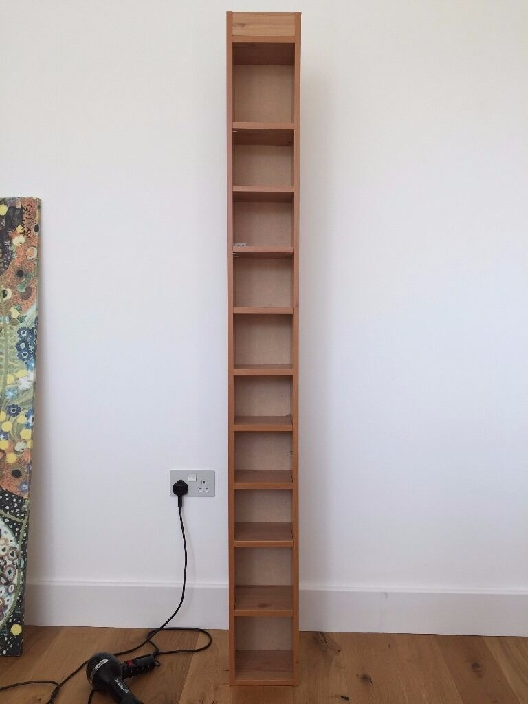 Argos Tall DVD And CD Media Storage Tower   Oak Effect