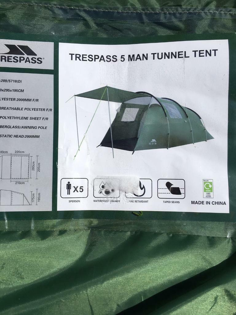 Trespass 5 man tunnel tent & Trespass 5 man tunnel tent | in Oulton West Yorkshire | Gumtree