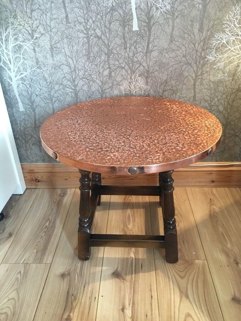 Vintage Copper Top Pub Table