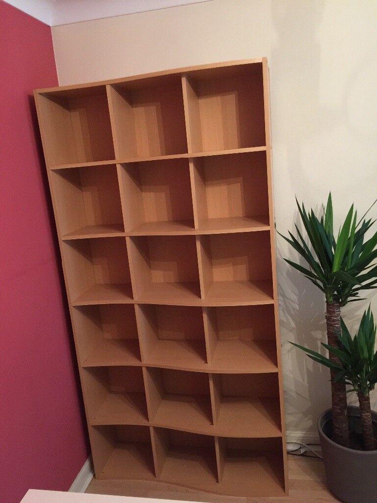 Light wood bookshelves/ storage unit & Light wood bookshelves/ storage unit | in Haymarket Edinburgh | Gumtree