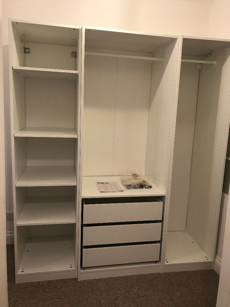 Awesome Ikea Pax Open Wardrobe 175cmx58cmx201cm. With Drawers.