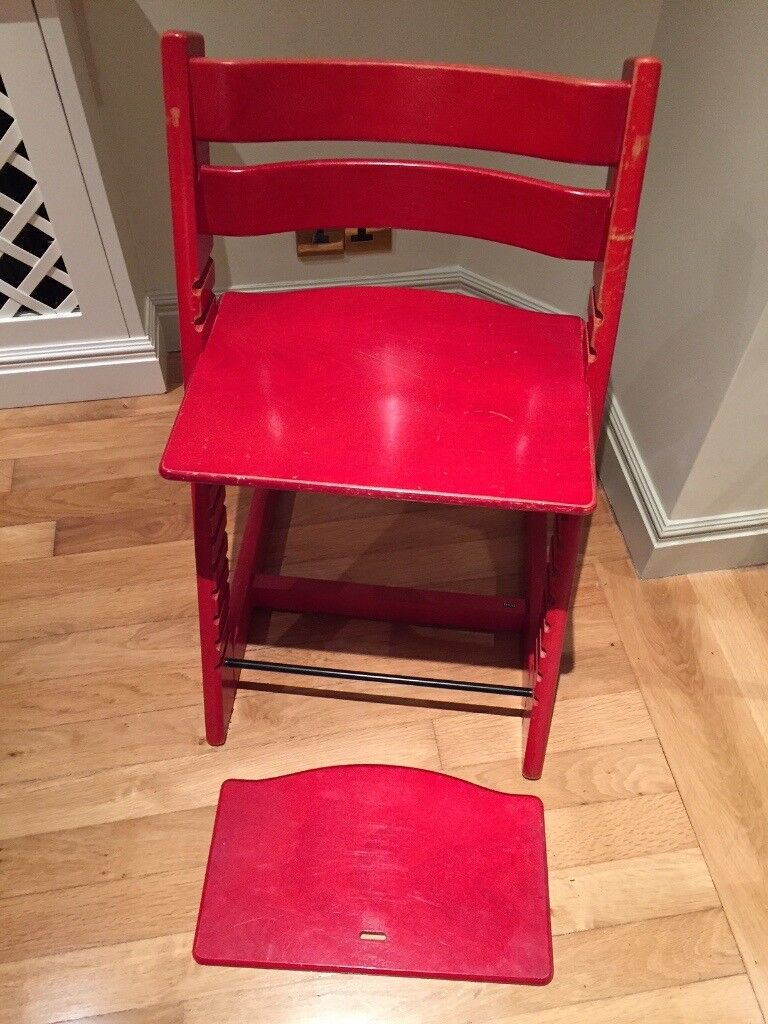 Tripp Trapp Stokke High Chair, Red