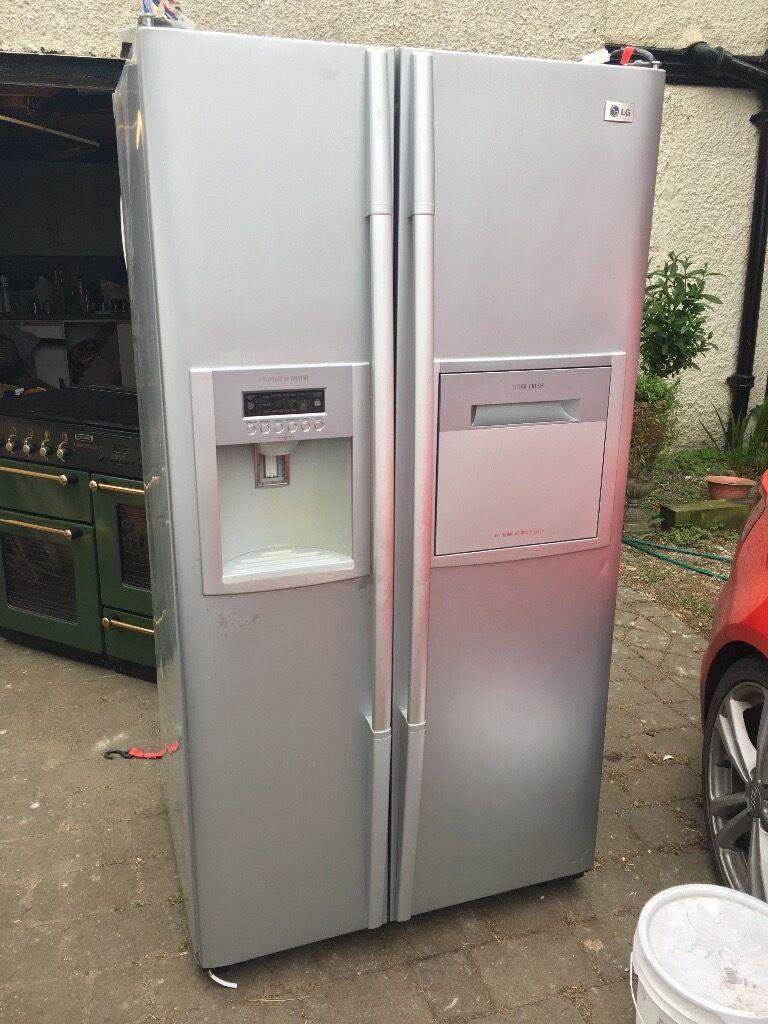 American Fridge With Ice Dispenser Part - 38: LG American Style Fridge Freezer Refrigerator Ice Dispenser