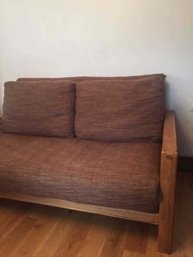 top of the range solid oak 2 seater futon sofa bed by futon  pany with top of the range solid oak 2 seater futon sofa bed by futon      rh   gumtree