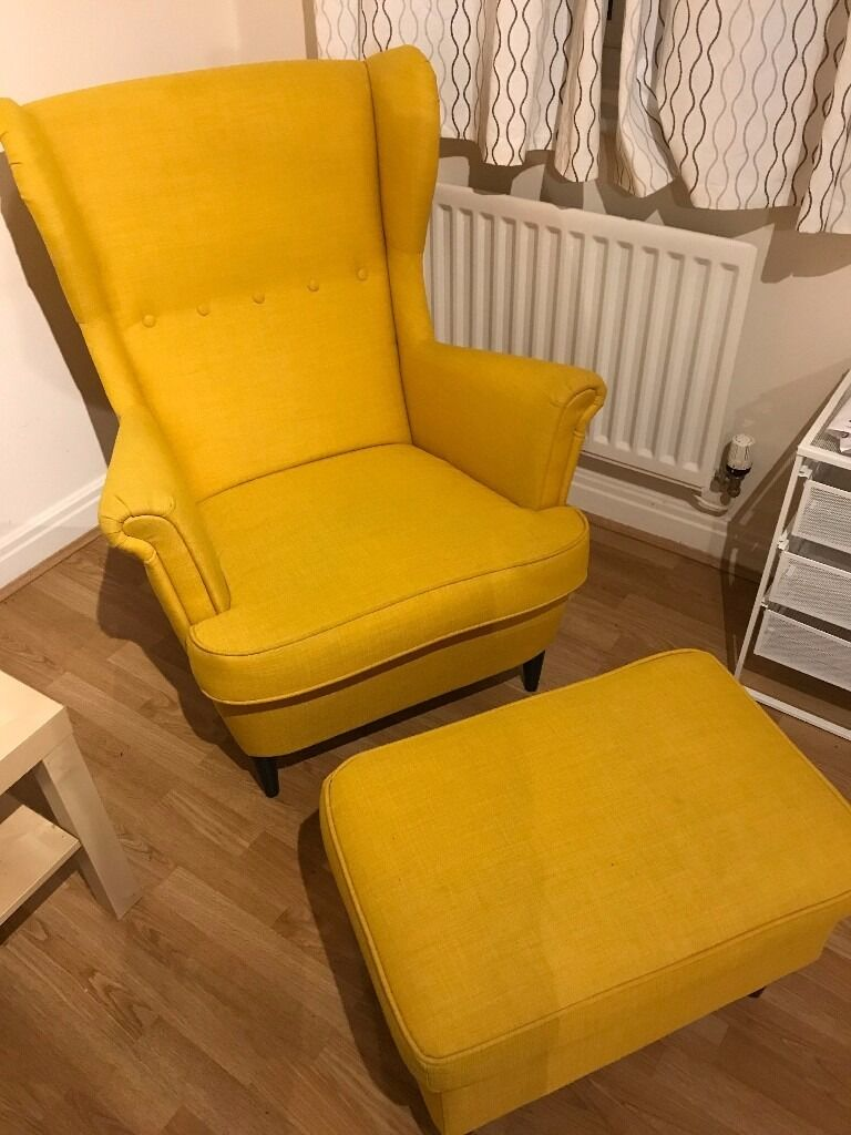 Superbe IKEA Wing Chair STRANDMON With Footstool