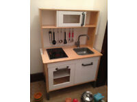 Ikea Childs/kids Wooden Kitchen + IKEA And ELC Accessories. Excellent  Condition