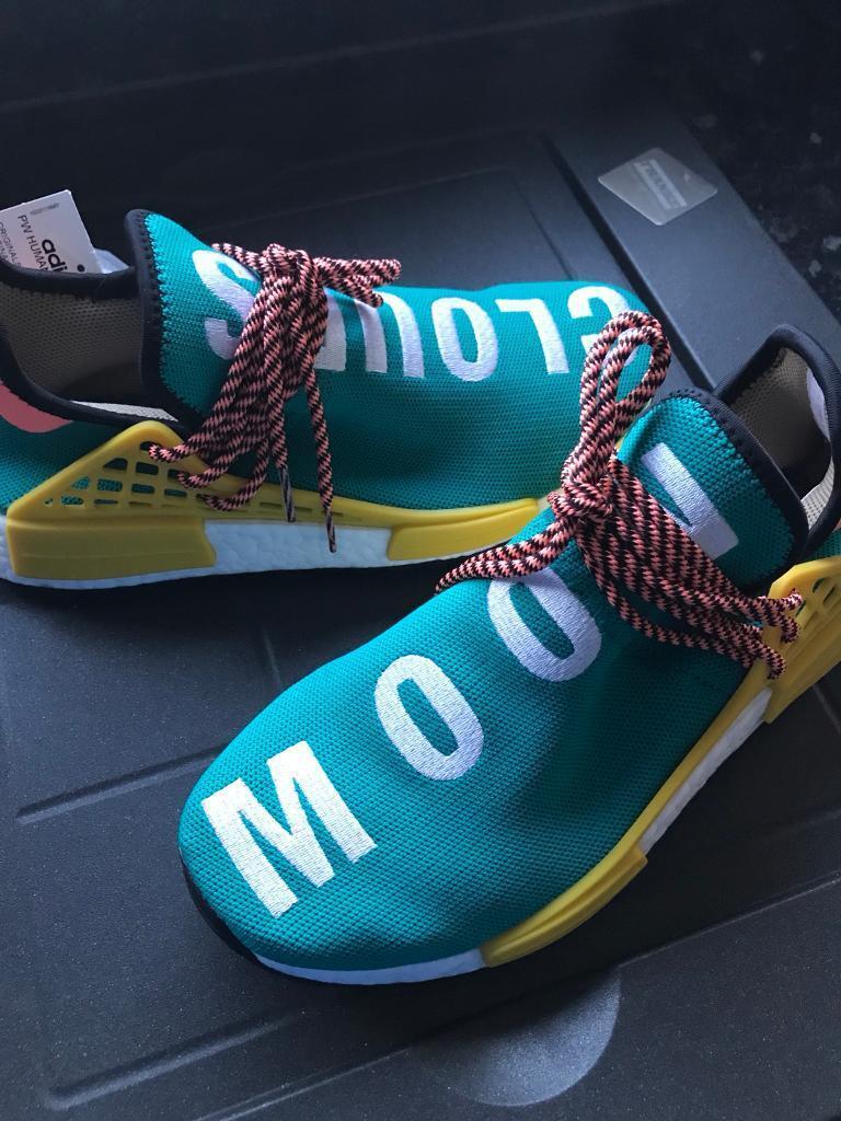Adidas X Pharrell Williams HU NMD TRAIL SUN GLOW Uk7