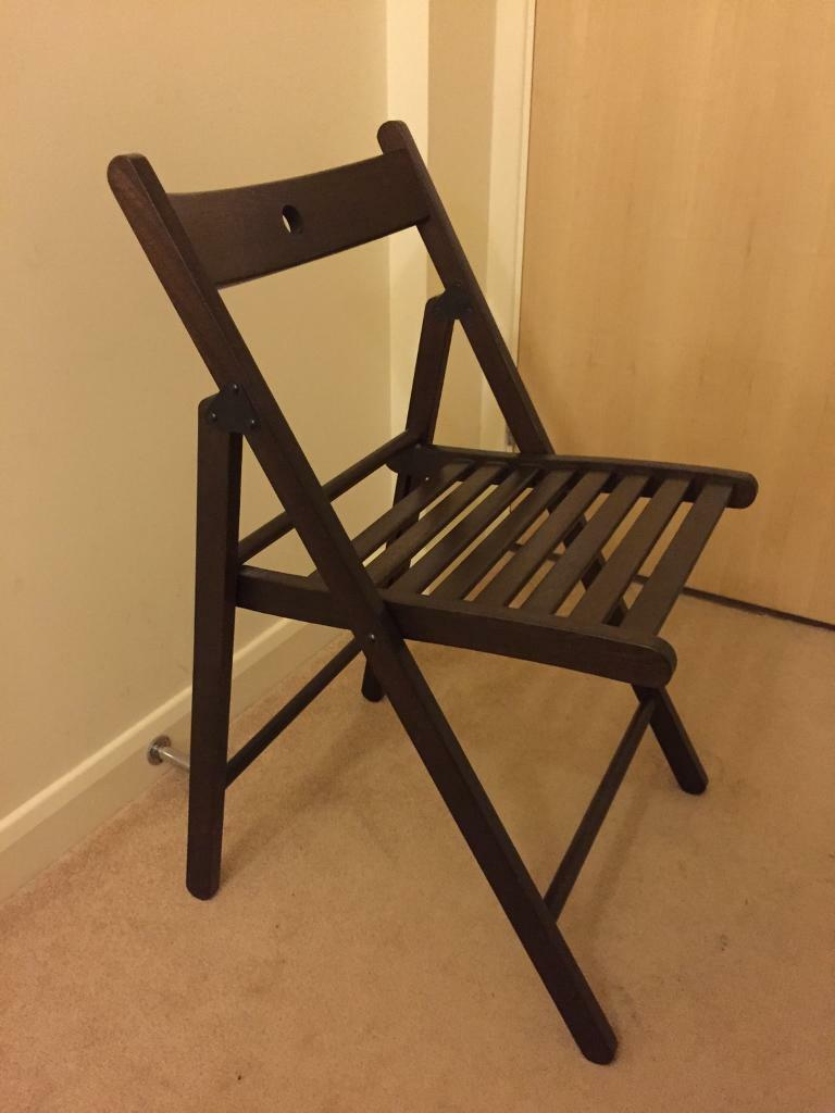 Dark brown wooden IKEA TERJE folding chair & Dark brown wooden IKEA TERJE folding chair | in Coventry West ...
