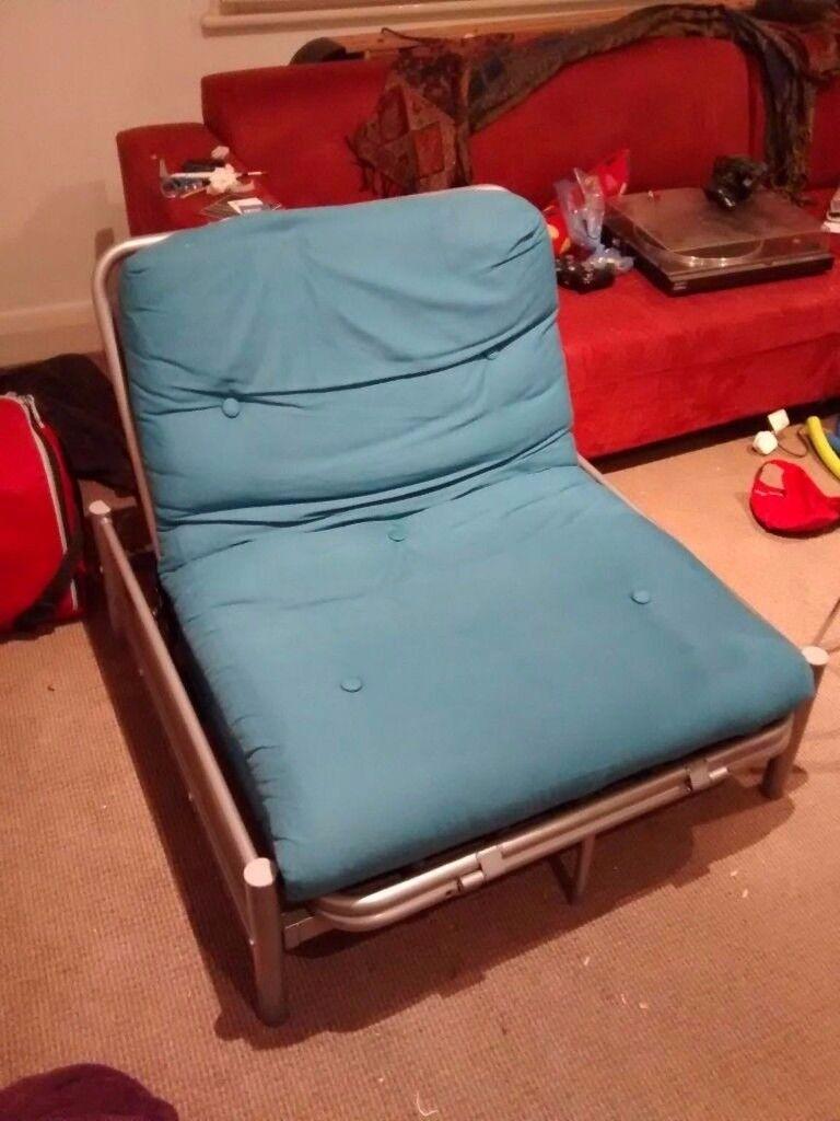 argos single futon with teal mattress argos single futon with teal mattress   in kingston london   gumtree  rh   gumtree