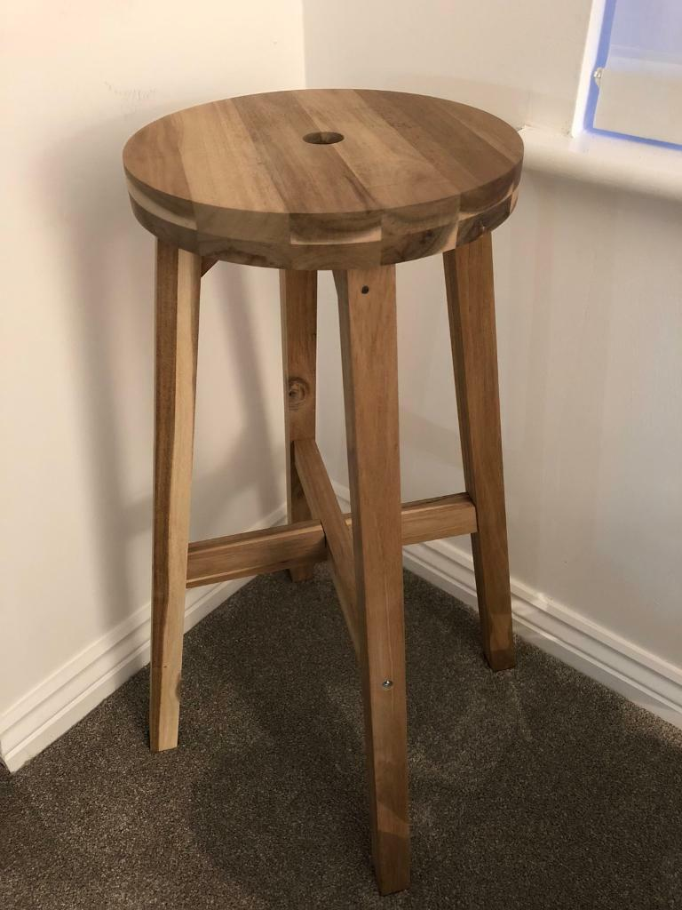 Ikea Skogsta Solid Wood Stool/plant Stand/side Table