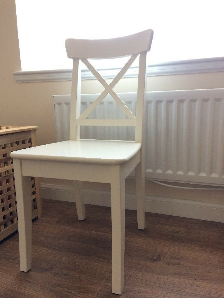 IKEA WHITE INGOLF CHAIR