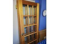 Glass Paneled Mahogany Internal Doors (pair)