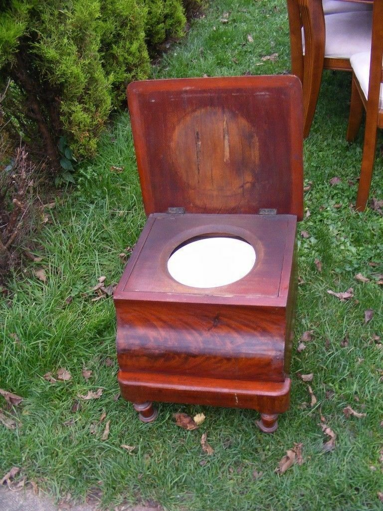 CAN DELIVER   BEAUTIFUL VERY RARE ANTIQUE COMMODE CHAIR
