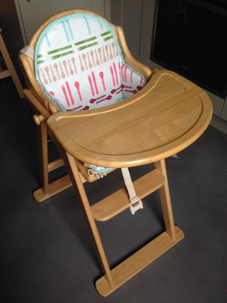Merveilleux East Coast Wooden Folding Highchair + Insert