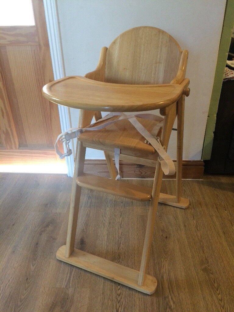 Superieur East Coast Wooden Folding High Chair