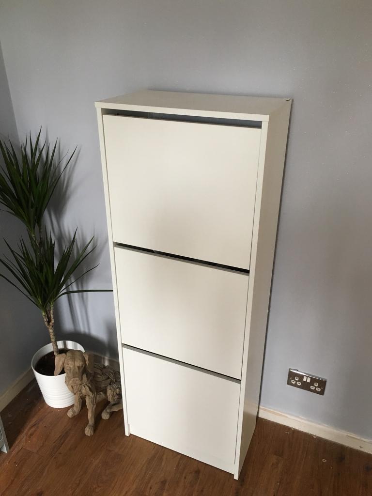 Ikea Bissa Shoe Cabinet White & Ikea Bissa Shoe Cabinet White | in Heanor Derbyshire | Gumtree