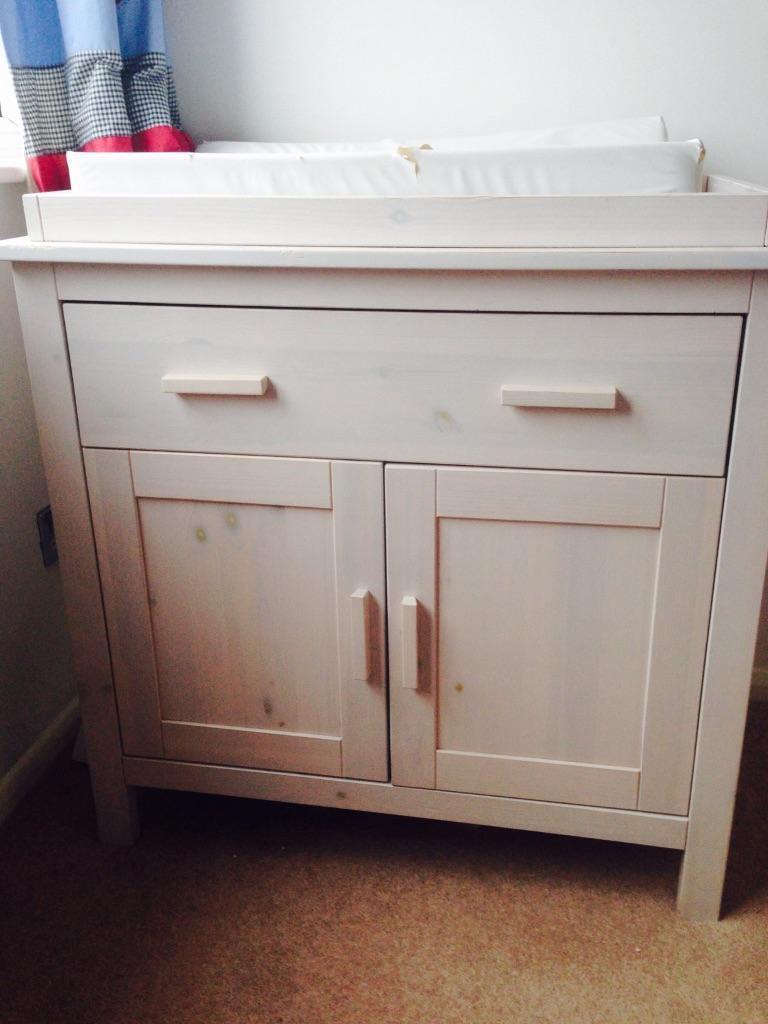 Mothercare Jamestown/Takeley 3 Piece Nursery Furniture In Whitewash