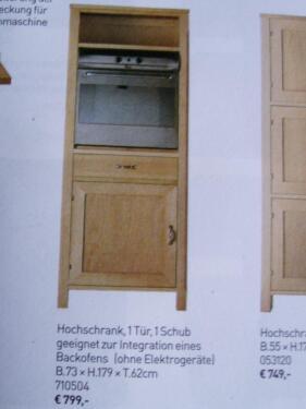 Habitat Oliva Hochschrank Küche Holz F Backofen/Einbaukühlschrank In  Ahrensburg